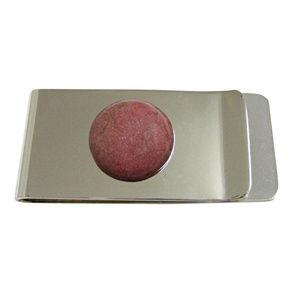 Kiola Designs Accessories - Pink Rhodonite Gemstone Money Clip